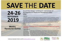 PIDA Second Policy Dialogue to be held in Malabo 24-26 Sep 2019