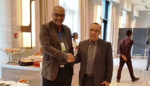 The Writer with African Union's Director of Industry, Mr. Hussein Hassen Hussein