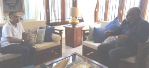 Interview with Mr. Fawz Rashid at his residence in Mombasa Old Town with window view to Indian Ocean