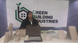 Eng. Omaima KARAR Showing the Products of Green Building Industries