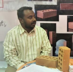 Hamid ABD-ALGAUOM, Manager of Eden Bricks Explaining Sudanese Materials Used in Production