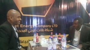 Muntasir from Planet Energy talking to Media